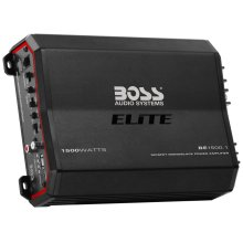 "Elite 1500W Monoblock, Class A/B Amplifier Dimensions 10""L 7""W 2.5""H"