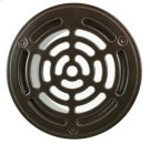 """6"""" Round Solid Nickel Bronze Plated Grid Shower Drain - Brushed Nickel Product Image"""