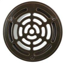 "6"" Round Solid Nickel Bronze Plated Grid Shower Drain - Brushed Nickel"
