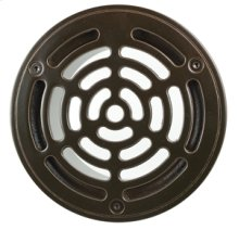 "6"" Round Solid Nickel Bronze Plated Grid Shower Drain - Brushed Nickel"