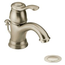 Kingsley brushed nickel one-handle bathroom faucet