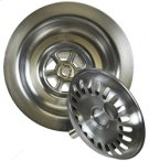 """3-1/2"""" Deluxe Stemball Kitchen Sink Strainer - Antique Brass Product Image"""