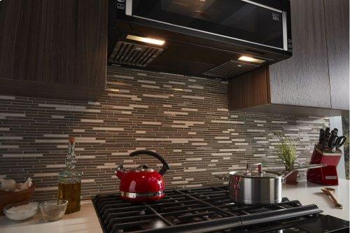 1000-Watt Low Profile Microwave Hood Combination with PrintShield Finish - Black
