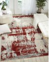 Maxell Mae14 Ivory Red Rectangle Rug 5'3'' X 7'3''