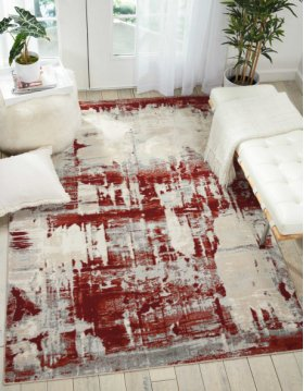 Maxell Mae14 Ivory Red Rectangle Rug 7'10'' X 10'6''