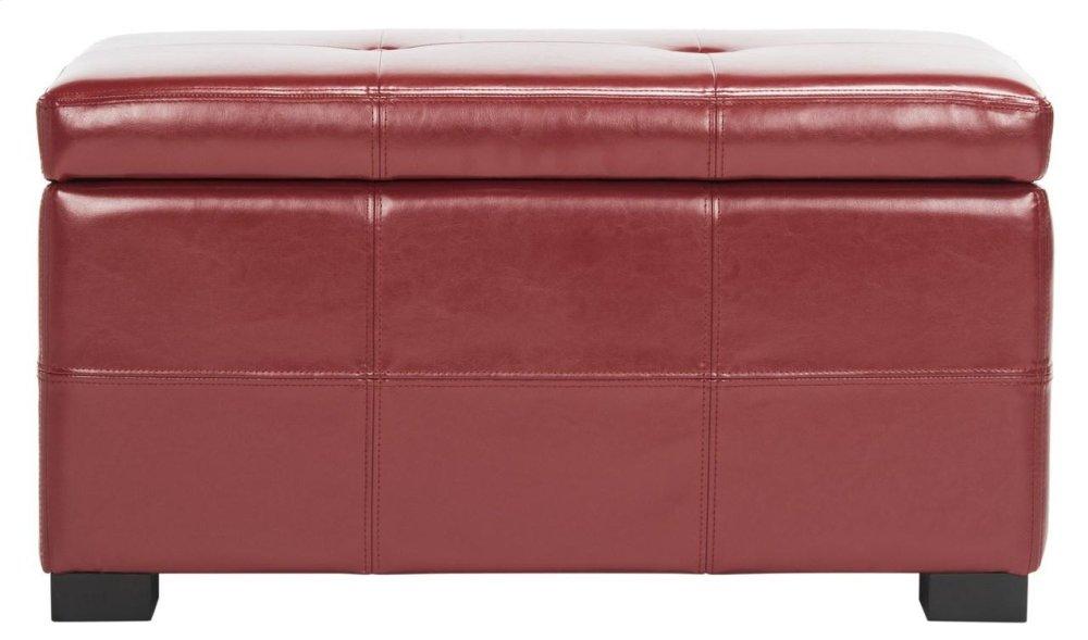 Maiden Tufted Storage Bench Sm - Red