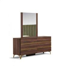 Nova Domus Calabria Modern Walnut Mirror