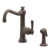 Venetian Bronze Single Handle Kitchen Faucet with Side Spray