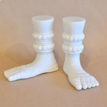 Buddhist Hands & Feet Feet / White Marble