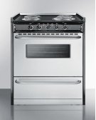 "Slide-in Electric Range In 30"" Width With Stainless Steel Doors and Black Porcelain Top; Replaces Tem230r Product Image"