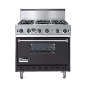 "Graphite Gray 36"" Open Burner Commercial Depth Range - VGRC (36"" wide, six burners)"