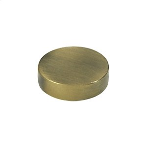 "Screw Cover, Round, Flat, 1"" Diam - Antique Brass"