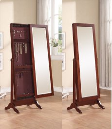 Cherry Sliding Jewelry Armoire Product Image