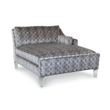 One Arm Chaise w/Acrylic Legs