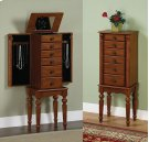 "Lightly Distressed ""Deep Cherry"" Jewelry Armoire Product Image"