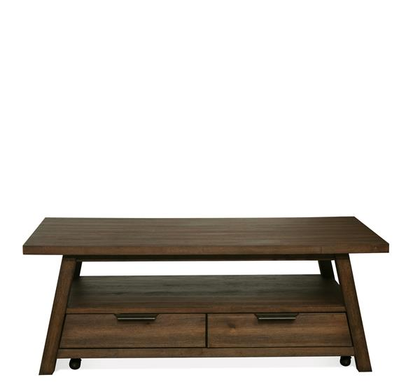Perspectives Large Coffee Table Brushed Acacia Finish