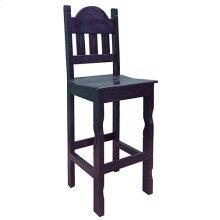 Dark Lv Barstool W/wood Seat