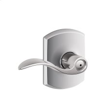 Accent Lever with Greenwich trim Bed & Bath Lock - Bright Chrome