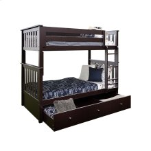 Twin/Twin Bunk   Trundle Storage Espresso