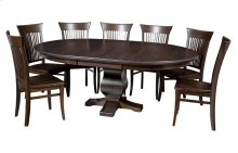 """54"""" -1-20"""" Leaf**6/4 Thick Top** Pedestal Table"""