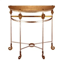 Armory Demi-Lune console Table