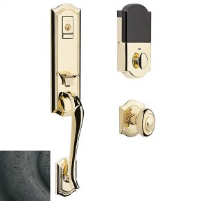 Distressed Oil-Rubbed Bronze Evolved Bethpage Knob Handleset