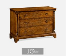 Large Country Walnut Chest of Drawers