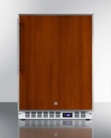 Frost-free Built-in Undercounter All-freezer for Residential or Commercial Use, With Stainless Steel Door Frame for Slide-in Panels and White Cabine