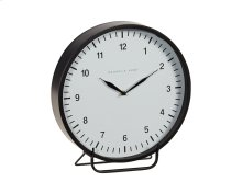 Black Metal Framed Emily Mantel Clock - Large