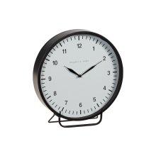 Black Metal Framed Emily Mantel Clock - Large