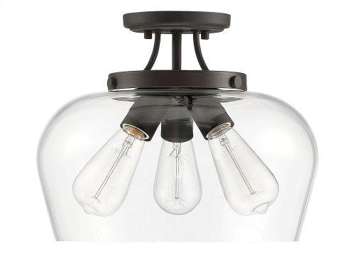 Octave 3 Light Semi Flush