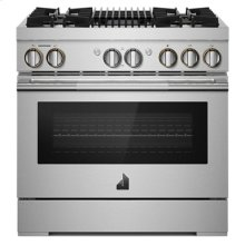 "RISE 36"" Dual-Fuel Professional Range with Gas Grill"