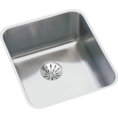 "Elkay Lustertone Classic Stainless Steel 16"" x 18-1/2"" x 7-7/8"", Single Bowl Undermount Sink Kit with Perfect Drain"