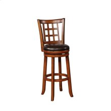 Traditional Cappuccino Swivel Counter-height Stool