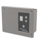 Remotely-wired Digital Heat Controller - Brushed Product Image