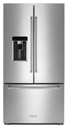"23.8 cu. ft. 36"" Counter-Depth French Door Platinum Interior Refrigerator - Stainless Steel"