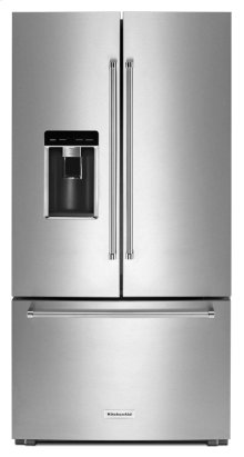 "Scratch and Dent - 23.8 cu. ft. 36"" Counter-Depth French Door Platinum Interior Refrigerator - Stainless Steel"