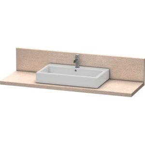 Console + Back Panel For Above-counter Basin And Vanity Basin, Cashmere Oak