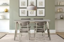 Bronx 5 Piece Rectangle Wood Dining Set - Light Weathered Gray Product Image