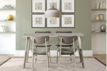 Bronx 5 Piece Rectangle Wood Dining Set - Light Weathered Gray
