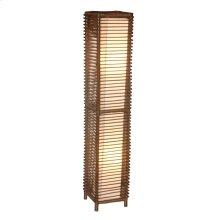 (LS) Meridian Decorative Floor Lamp W/Rattan Frame-M (10x10x53)