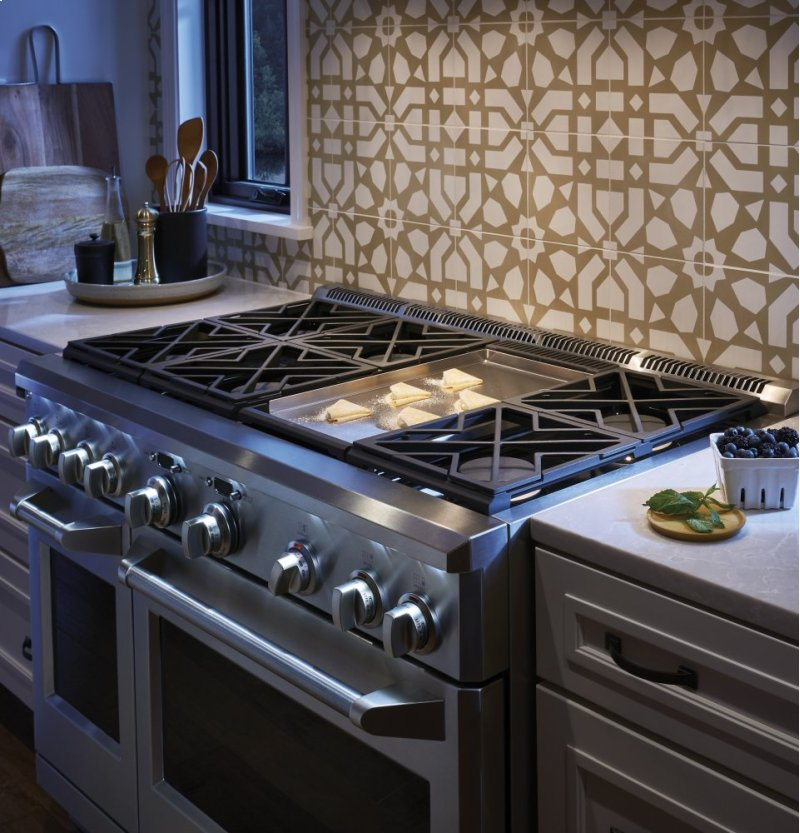 Monogram 48 All Gas Professional Range With 6 Burners And Griddle Liquid Propane