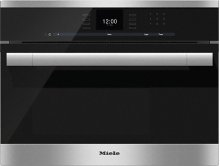 DG 6500 Built-in steam oven with a large text display and SensorTronic controls for extra convenience.