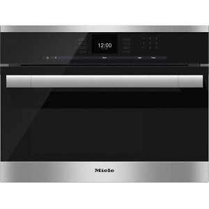 MieleDG 6500 Built-in steam oven with a large text display and SensorTronic controls for extra convenience.