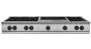 """60"""" RANGETOP WITH A 24"""" GRIDDLE"""