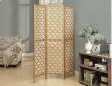 "FOLDING SCREEN - 3 PANEL / GOLD FRAME "" LANTERN DESIGN """