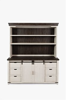 "Madison County 70"" Barndoor Hutch Server - Barndoor"