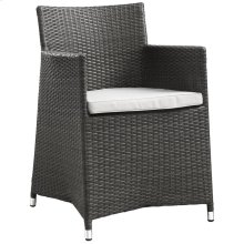 Junction Dining Outdoor Patio Armchair in Brown White