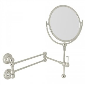Polished Nickel Perrin & Rowe Edwardian Wall Mount Shaving Mirror