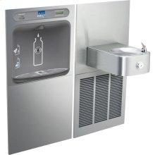 Elkay EZH2O Bottle Filling Station & Soft Sides Single Fountain, Filtered 8 GPH Stainless